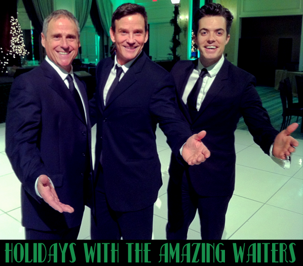 The Amazing Waiters X3 during sound check for a Southern California Corporate Holiday Show, complete with Christmas Carols sung by Michael Buble, Josh Groban and Luciano Pavarotti.